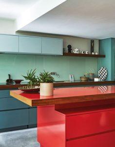 χρωματιστή κουζίνα