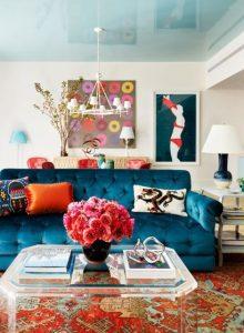 χρωματιστό σαλόνι