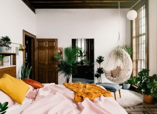 υπνοδωμάτιο κούνια κρεβάτι φυτά κρεβατοκάμαρα
