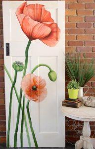 ζωγραφιά σε πόρτα