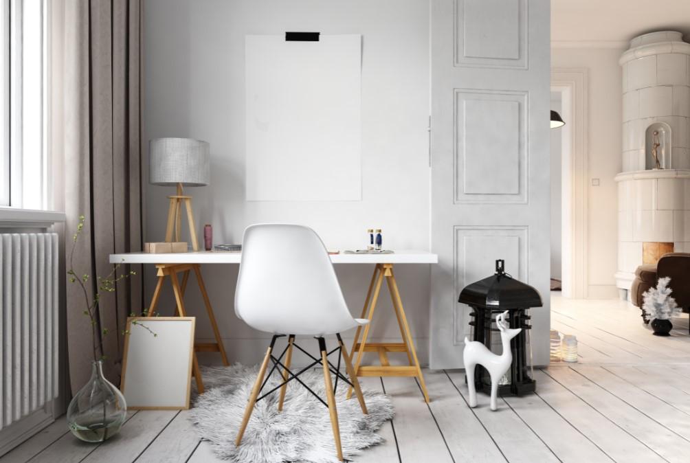 Διακόσμηση γραφείου με σκανδιναβικό στυλ,