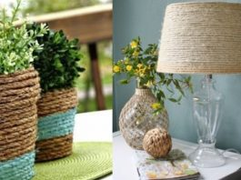 εύκολες διακοσμητικές κατασκευές από σχοινί