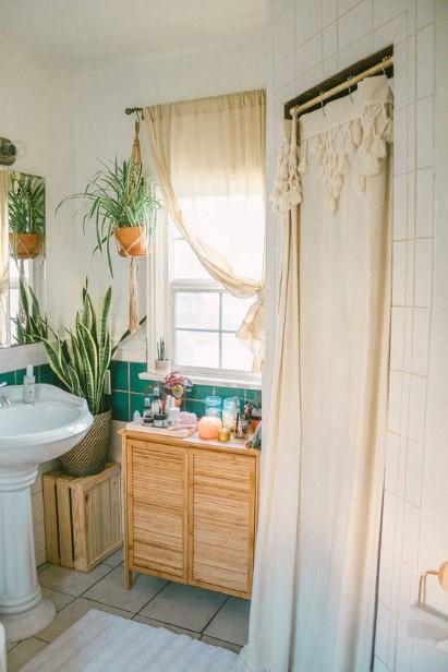 μπάνιο φυτά ξύλινο έπιπλο
