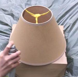 μπεζ καπέλο λάμπας