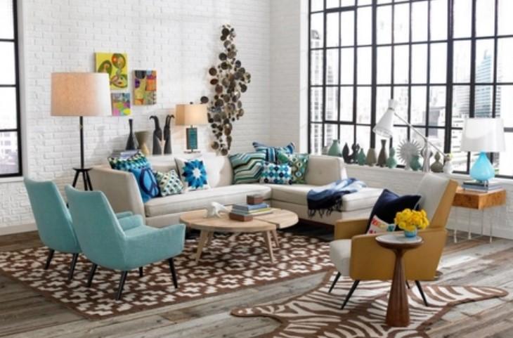 Ρετρό διακόσμηση, χρώματα, συνδιασμός αξεσουάρ, μοτίβων και σχέδια