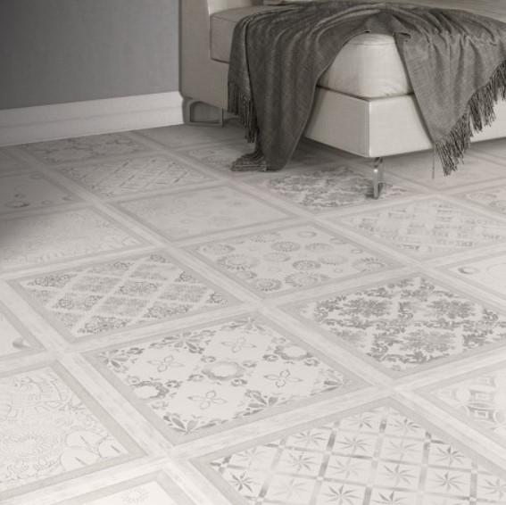 Ρετρό πάτωμα με μοτίβα σκακιέρας