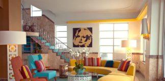 Τα κύρια χρώματα σε ρετρό διακόσμηση