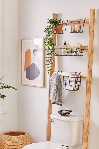 σκάλα μπάνιο λεκάνη διακοσμητικά μπάνιου