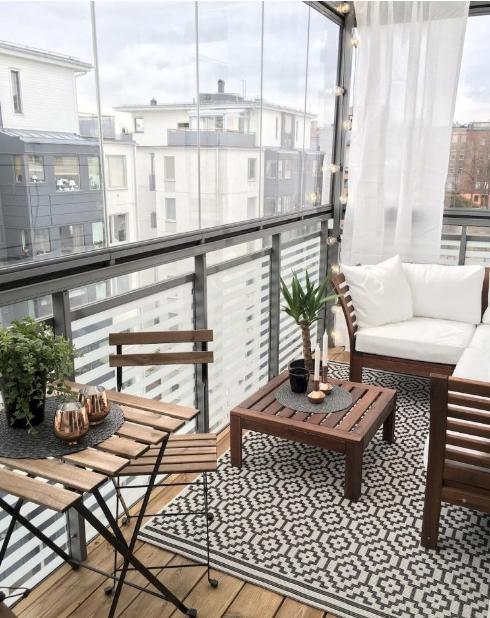διακόσμηση στενό μπαλκόνι exypnes-idees.gr