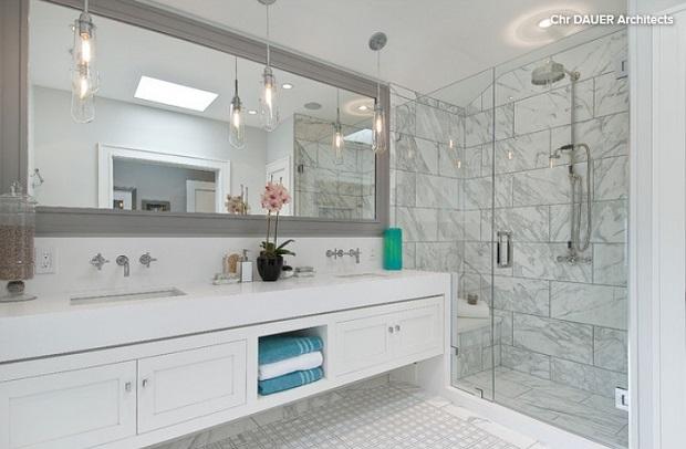 διακόσμηση μπάνιου καθρέφτης