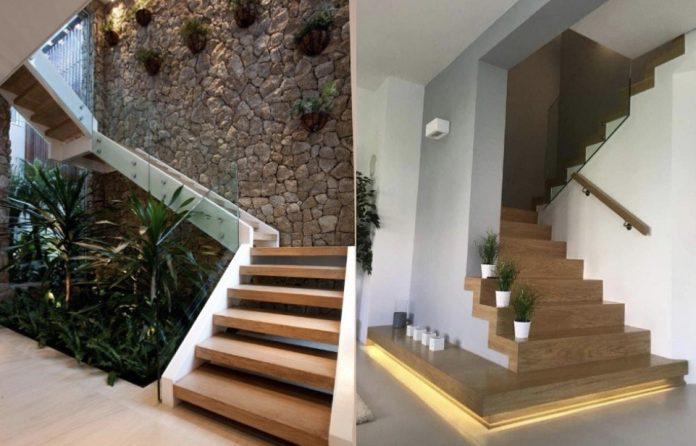 ιδέες για να διακοσμήσεις τις εσωτερικές σκάλες του σπιτιού σου με φυτά