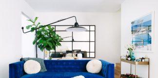 διθέσιος καναπές μπλε σαλόνι τέλειο καναπέ