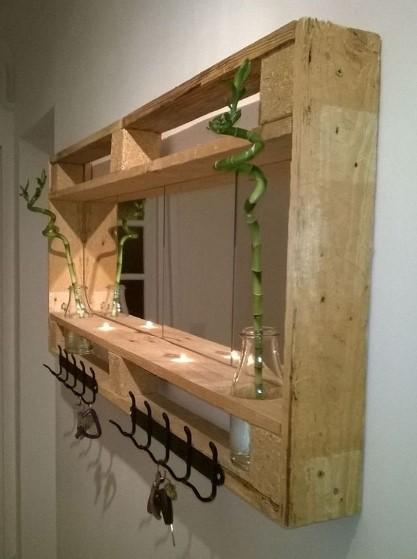 κατασκευή από ξύλινη παλέτα