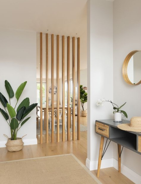 ξύλινο διαχωριστικό χώρου