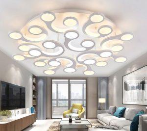 μοντέρνο φωτιστικό οροφής για το σαλόνι