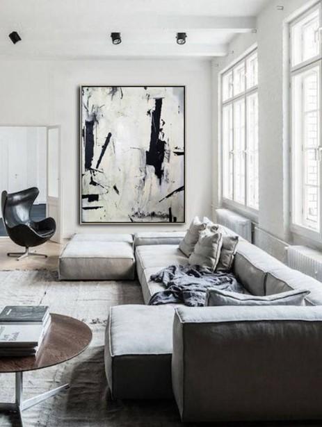 μοντέρνο σαλόνι μεγάλος πίνακας