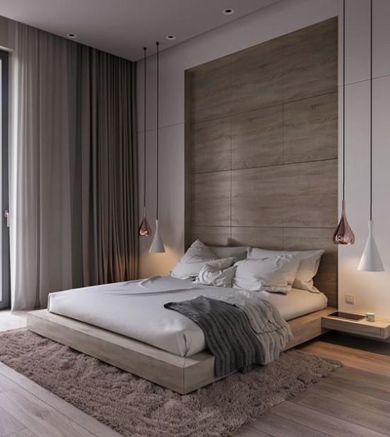 μοντέρνα κρεβατοκάμαρα κρεβάτι φωτιστικά