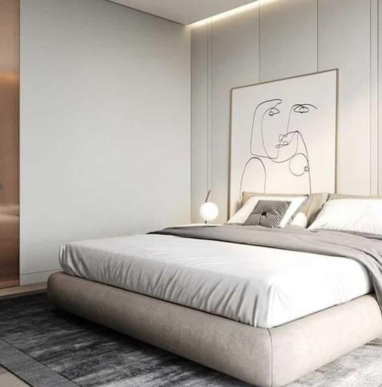 μοντέρνο υπνοδωμάτιο μεγάλος πίνακας