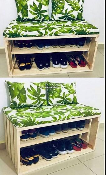 παπουτσοθήκη από ξύλινες παλέτες