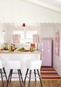 διακόσμηση κουζίνας ροζ τοίχοι