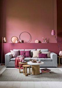 διακόσμηση σαλονιού βάψιμο τοίχων