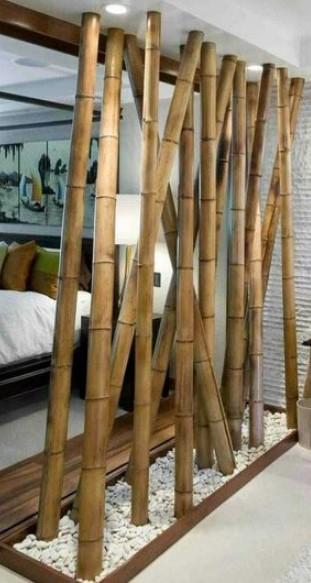 διαχωριστικό δωματίου από bamboo