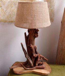 φωτιστικο με ξυλα θαλλασης