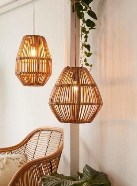 φωτιστικά από bamboo