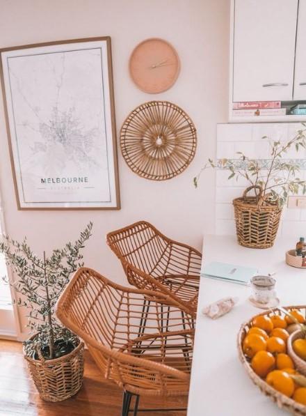 καρέκλες κουζίνας από bamboo