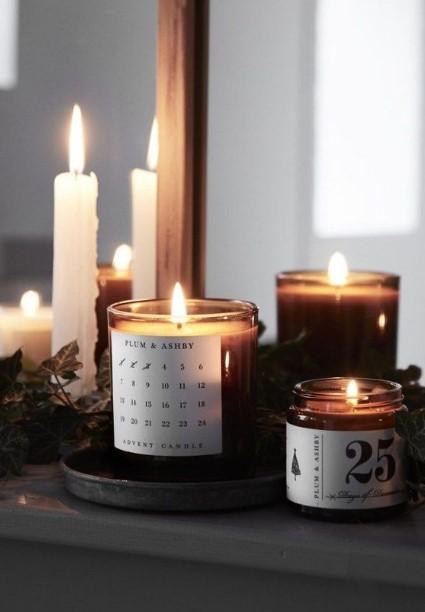κεριά αναμμένα αρωματικά