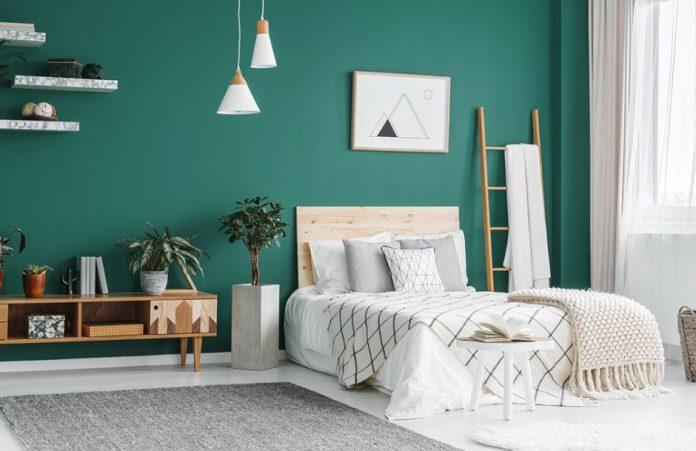 κρεβατοκάμαρα πράσινος τοίχος καλύτερο ύπνο