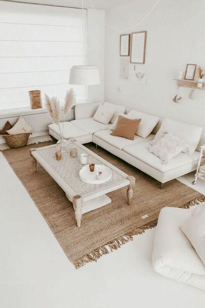 μπεζ άσπρο δωμάτιο χρωματικοί συνδυασμοί σαλόνι