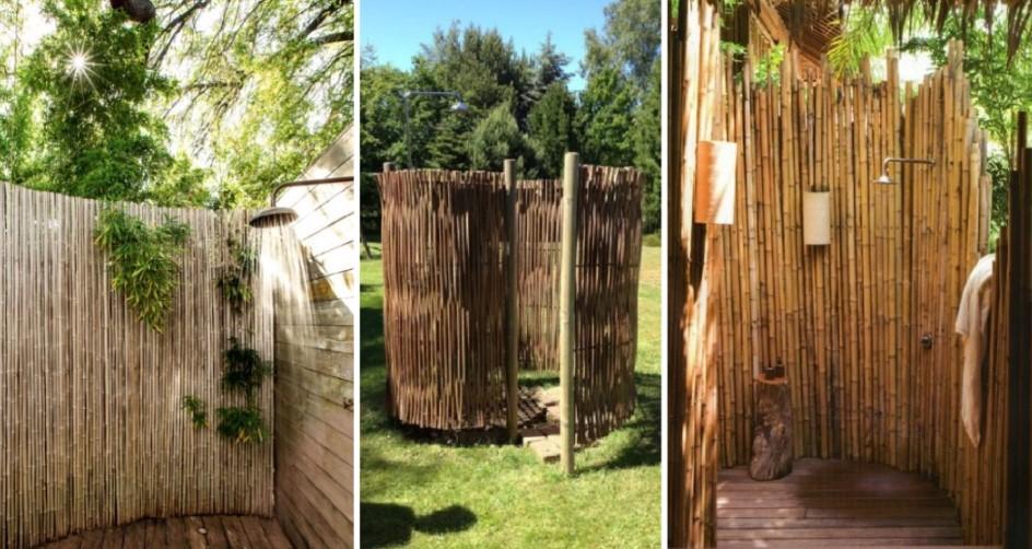 ντουζιέρα εξωτερικού χώρου από bamboo