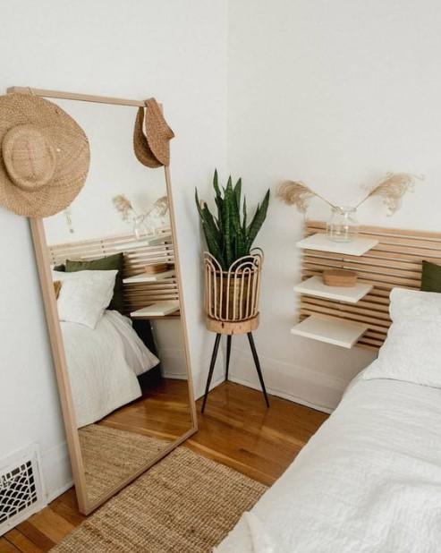 ολόσωμος καθρέπτης κρεβατοκάμαρα φυτά
