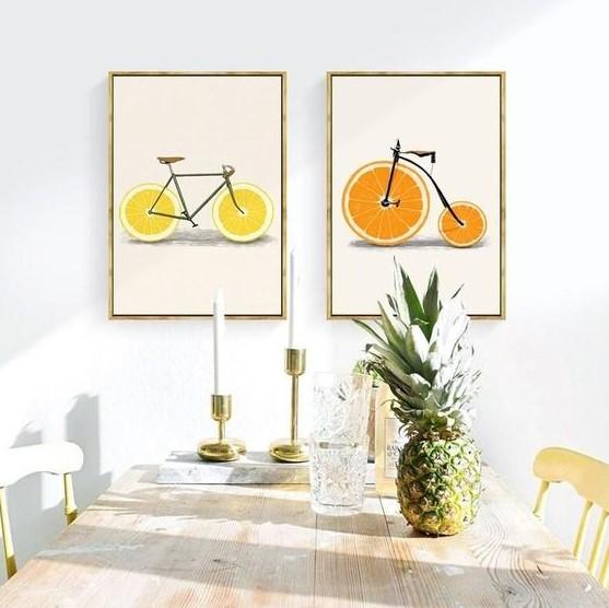 πίνακες φρούτα τραπεζαρία