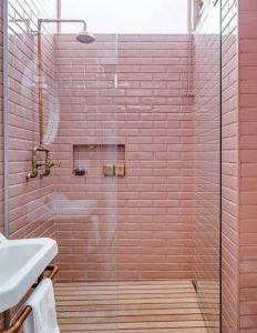 ροζ πλακάκια μπάνιου