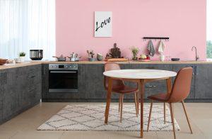 ροζ τοίχοι σπιτιού