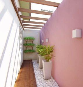 ροζ τοίχος διάδρομος σπιτιού