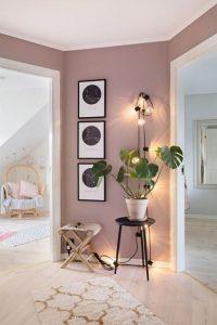 ροζ χρώμα τοίχων χολ