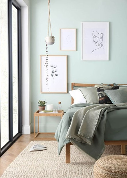υπνοδωμάτιο γαλάζια χρώματα καλύτερο ύπνο