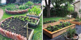 ιδέες για diy παρτέρια στον κήπο