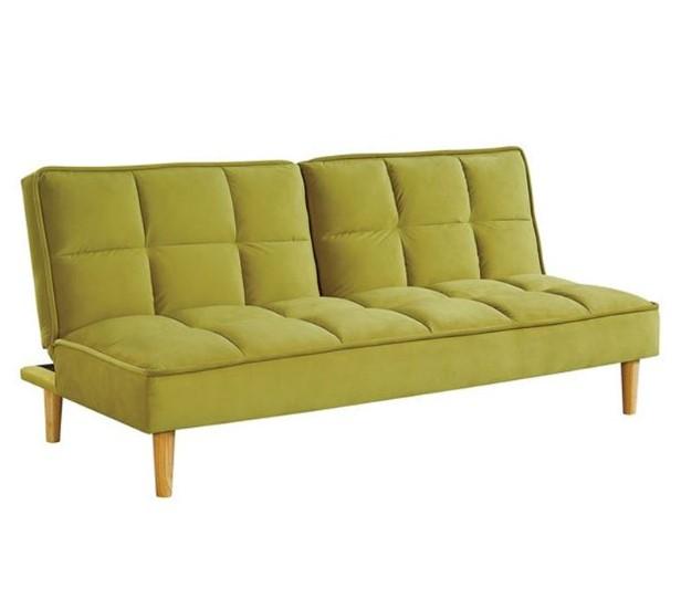 κίτρινος καναπές κρεβάτι