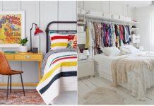 λύσεις αποθήκευσης μικρό υπνοδωμάτιο