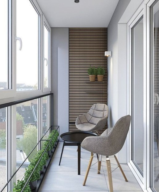 minimal μπαλκόνι