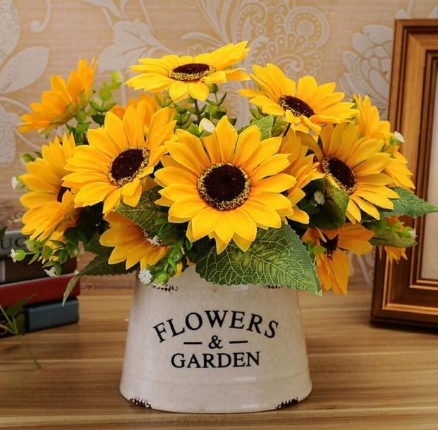 ψεύτικα λουλούδια κίτρινα