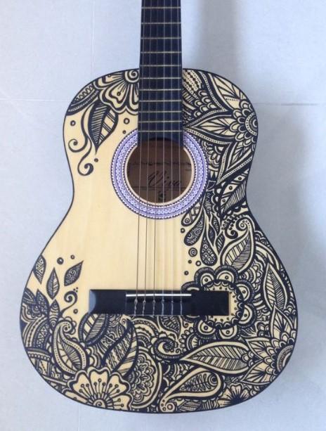 ζωγραφισμένη κιθάρα
