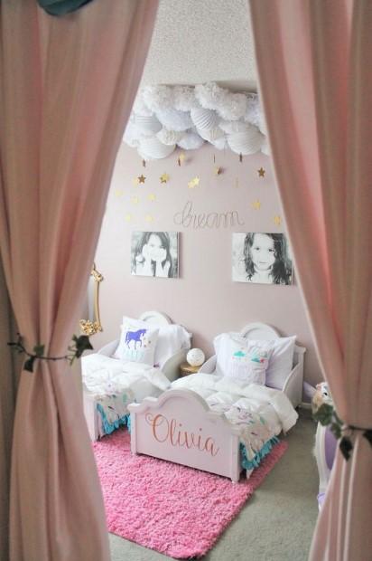διακόσμηση σε παιδικό δωμάτιο για κοριτσάκι