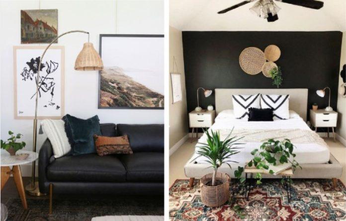διακόσμηση σπιτιού με μαύρο χρώμα