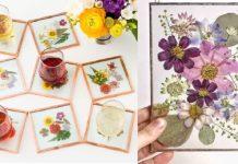 diy κατασκευές από αποξηραμένα λουλούδια