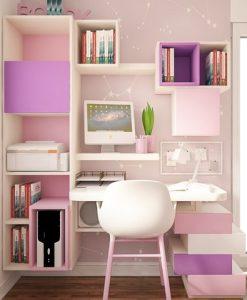 γραφειο κοριτσι ροζ μοβ